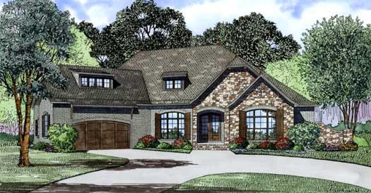 European Style House Plans Plan: 12-1293