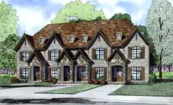 European Style Home Design Plan: 12-1295