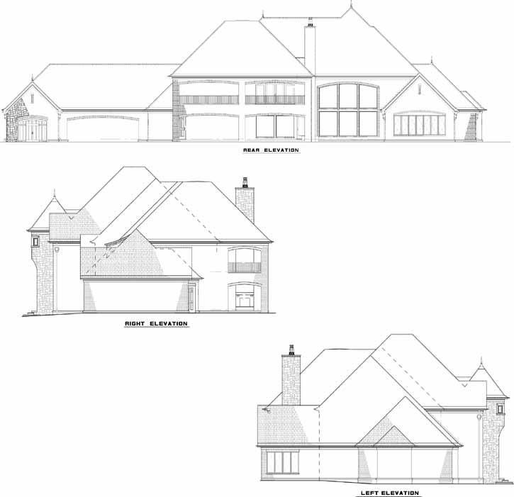 Rear Elevation Plan: 12-1300