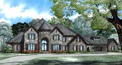 European Style House Plans Plan: 12-1300