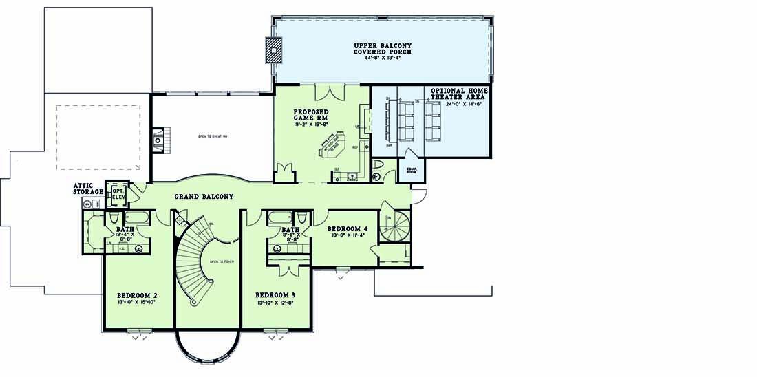 Upper/Second Floor Plan: 12-1300