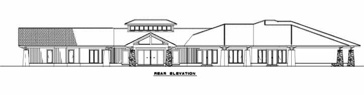 Rear Elevation Plan: 12-1305