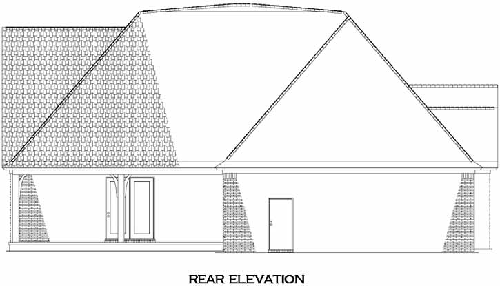 Rear Elevation Plan: 12-1309