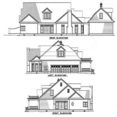 Rear Elevation Plan: 12-131