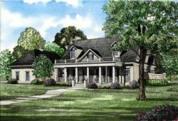 Southern Style Home Design Plan: 12-131
