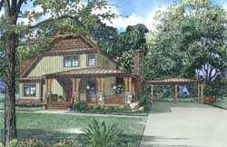 Mountain-or-Rustic Style Floor Plans Plan: 12-1311