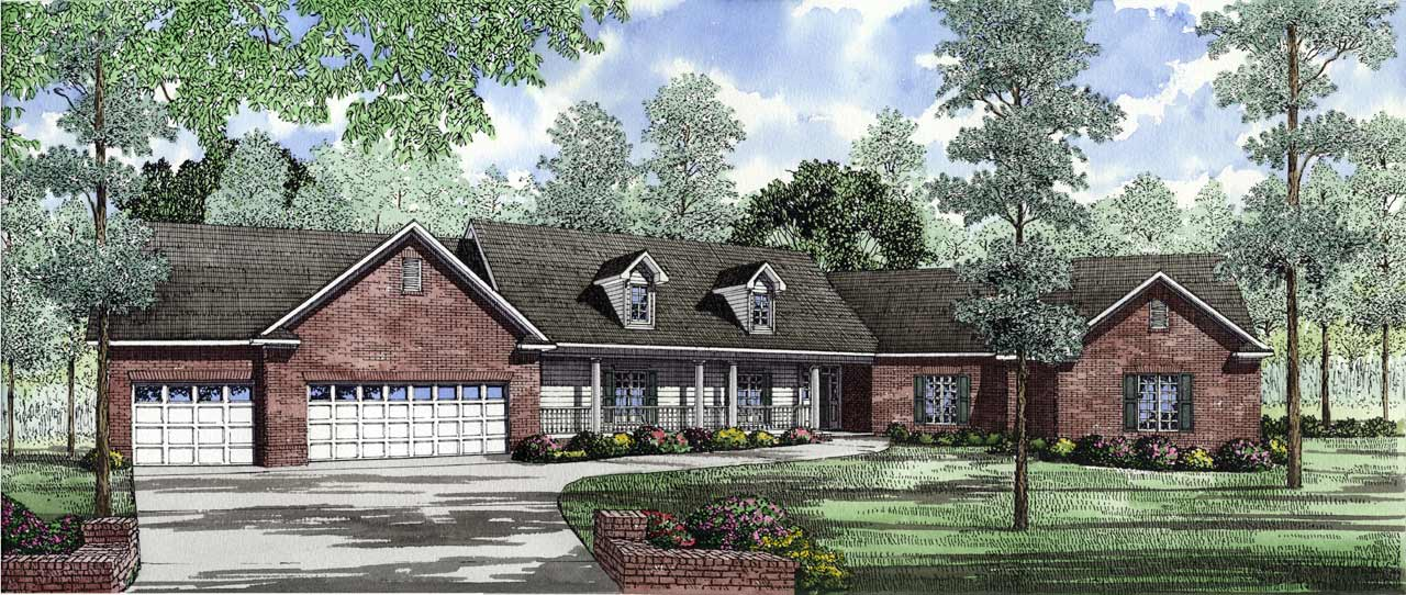Southern Style Home Design Plan: 12-132