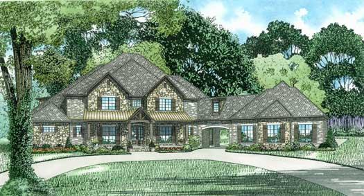 European Style House Plans Plan: 12-1320