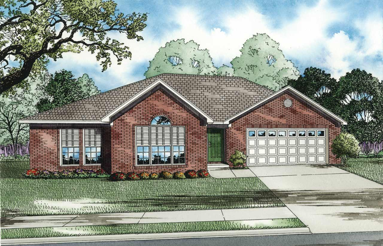 Southern Style Home Design Plan: 12-133