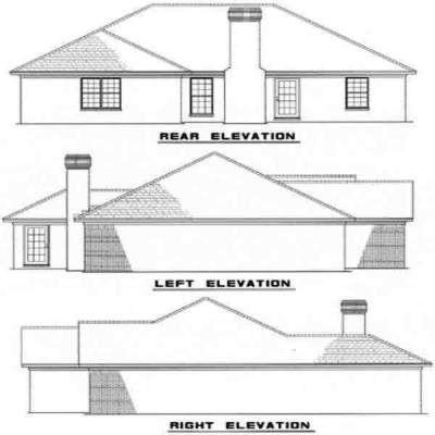 Rear Elevation Plan: 12-133