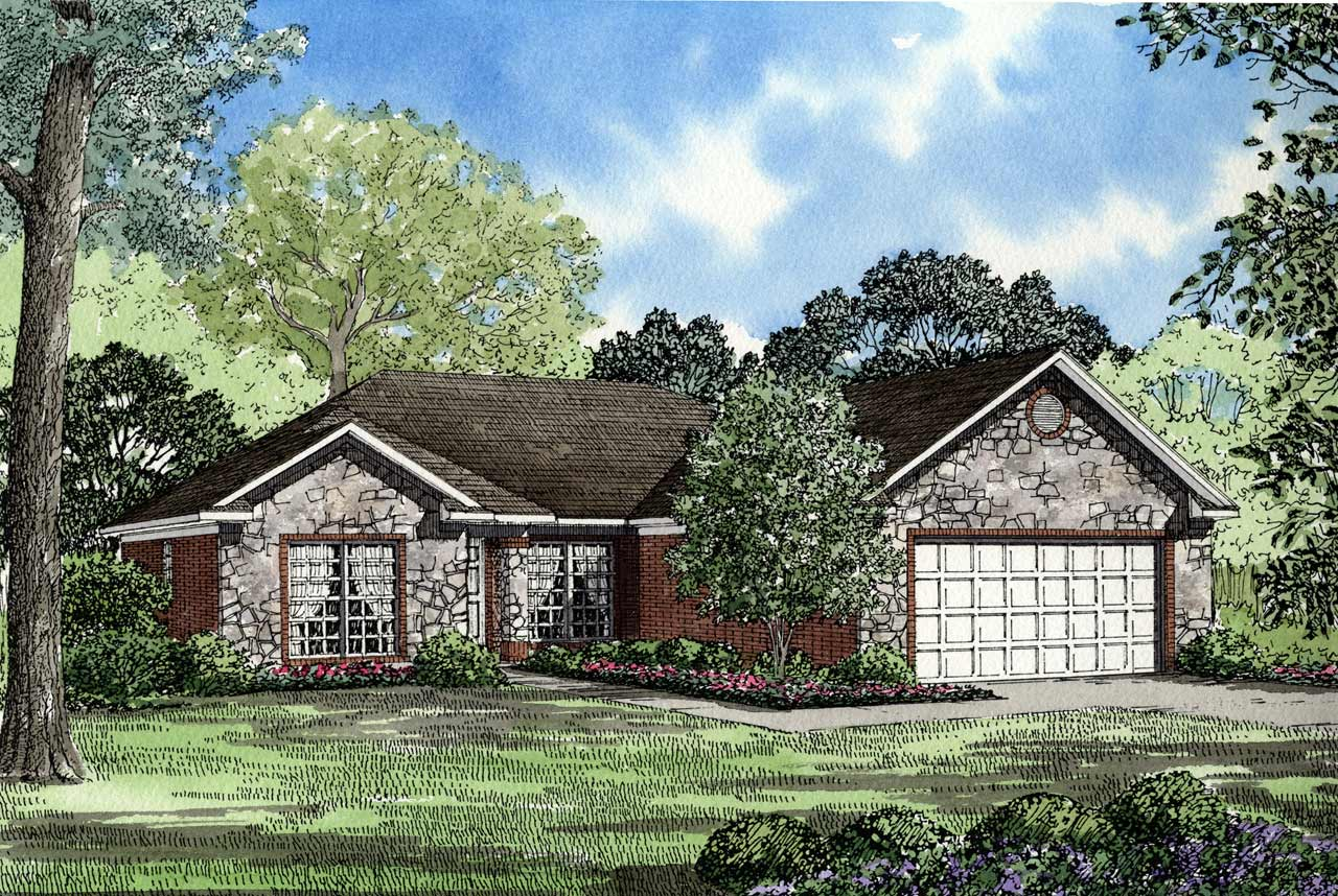 Southern Style Floor Plans Plan: 12-134