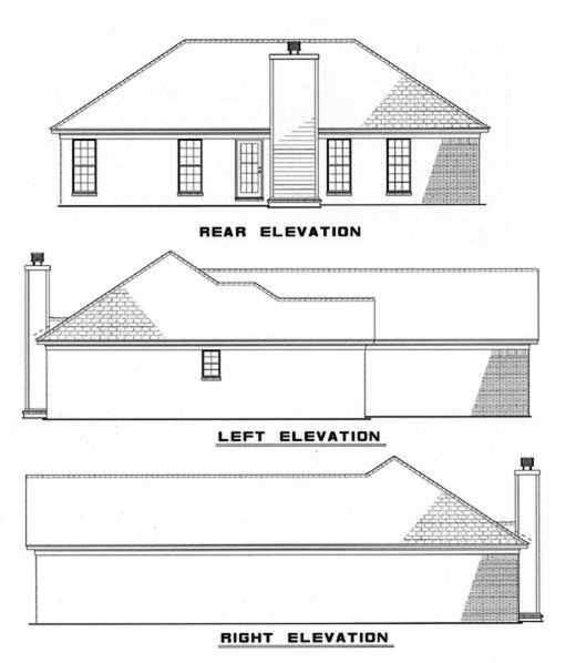 Rear Elevation Plan: 12-134