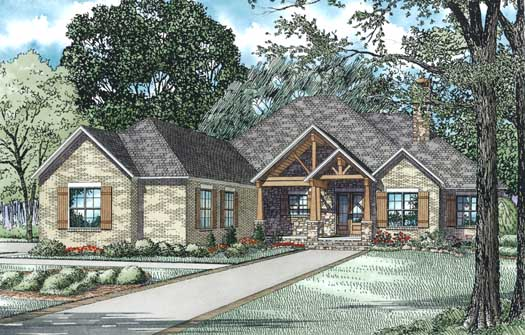 Mountain-or-rustic Style House Plans Plan: 12-1343