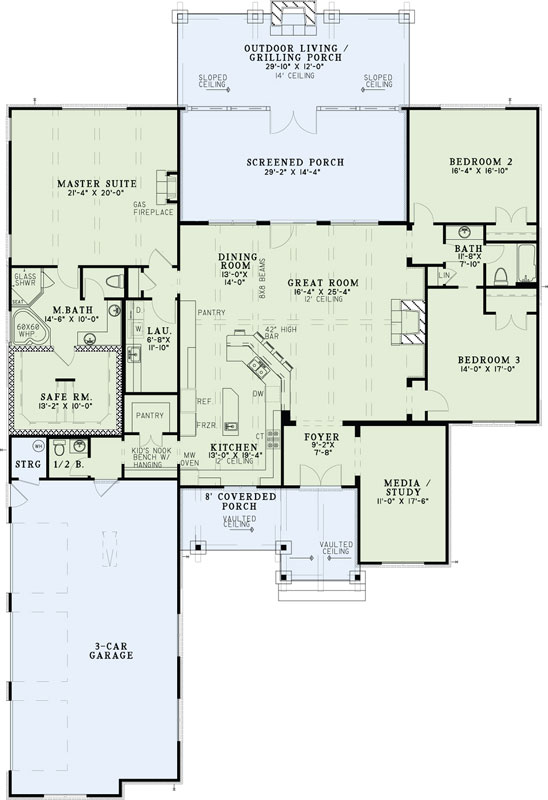 Main Floor Plan: 12-1343