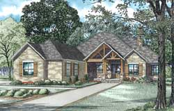 Mountain-or-Rustic Style Home Design Plan: 12-1343