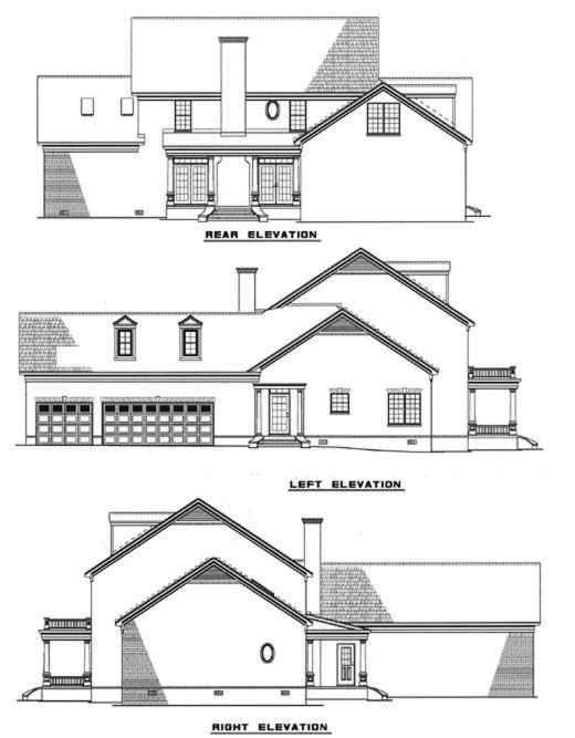 Rear Elevation Plan: 12-135