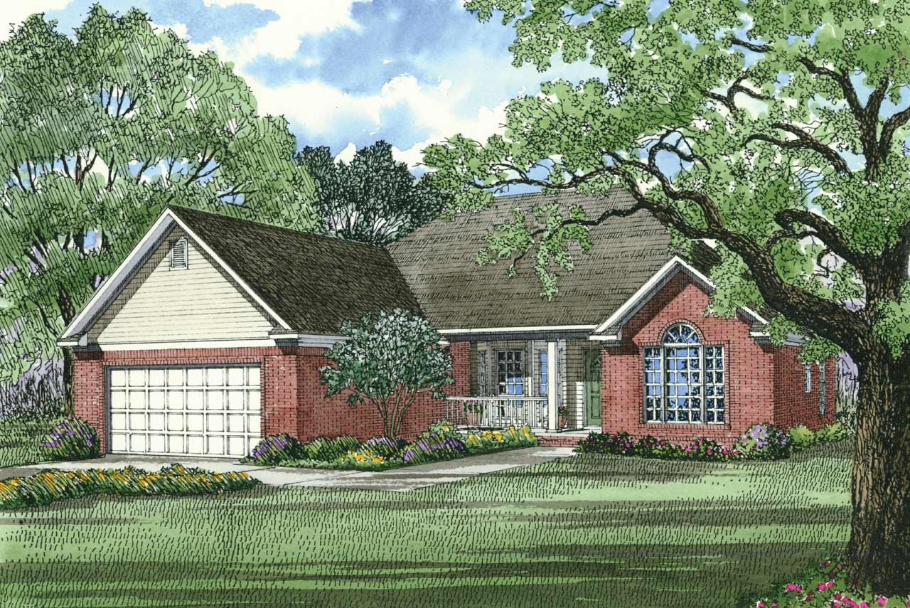 Traditional Style Home Design Plan: 12-136