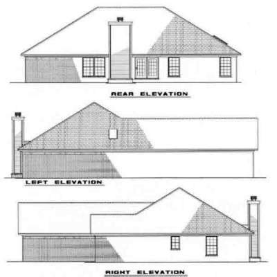 Rear Elevation Plan: 12-136