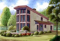 Modern Style Floor Plans Plan: 12-1363