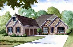European Style House Plans Plan: 12-1364