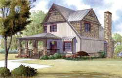 Country Style Home Design Plan: 12-1368