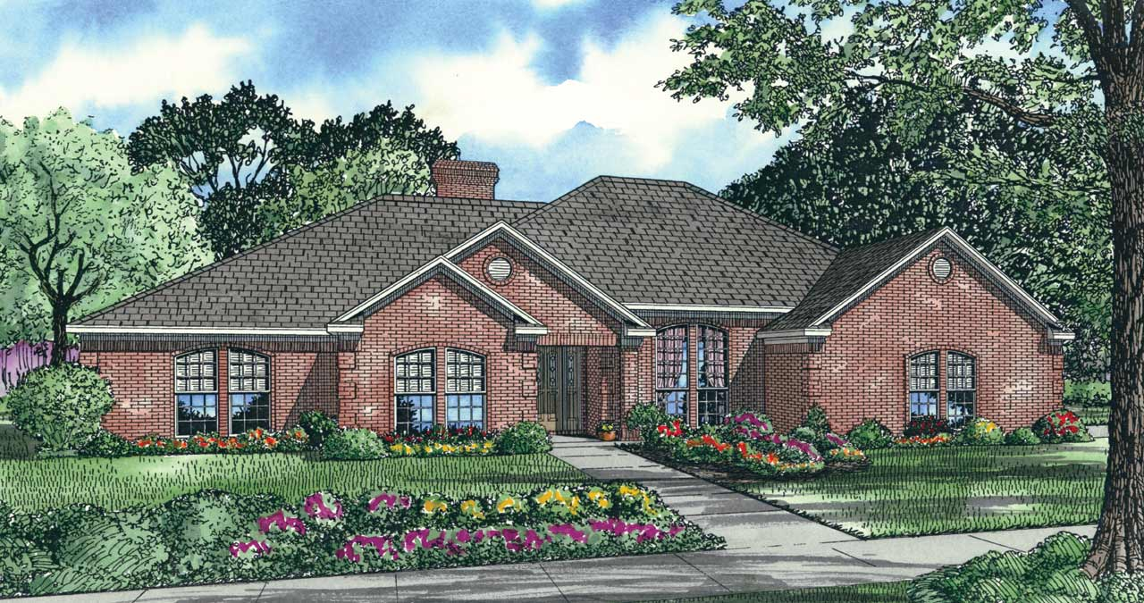 Southern Style House Plans Plan: 12-137