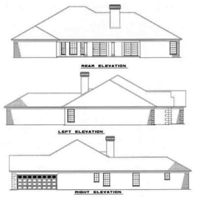 Rear Elevation Plan: 12-137