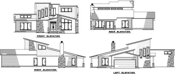 Rear Elevation Plan: 12-1374