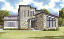 Modern Style Floor Plans Plan: 12-1374