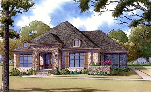 Traditional Style House Plans Plan: 12-1376