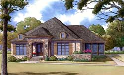 Traditional Style Home Design Plan: 12-1376