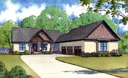 Country Style Floor Plans Plan: 12-1377