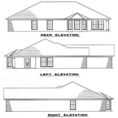 Rear Elevation Plan: 12-138