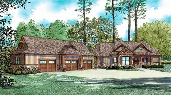 Mountain-or-rustic Style House Plans Plan: 12-1383