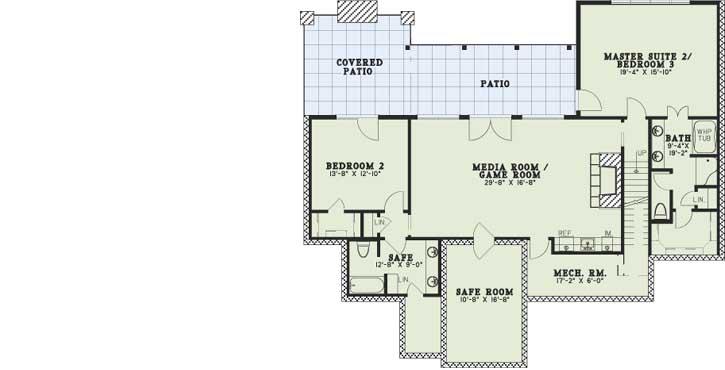 Lower Floor Plan: 12-1383
