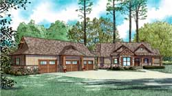 Mountain-or-Rustic Style Home Design Plan: 12-1383