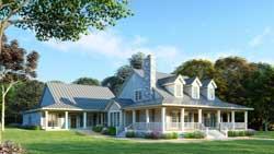 Farm Style House Plans Plan: 12-1386