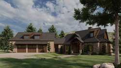 Craftsman Style House Plans Plan: 12-1387