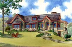 Mountain-or-Rustic Style Floor Plans Plan: 12-1389