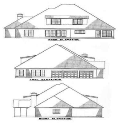 Rear Elevation Plan: 12-139
