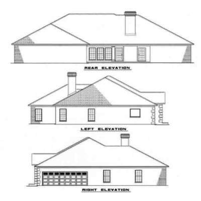 Rear Elevation Plan: 12-140