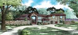 European Style Home Design Plan: 12-1400