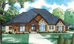 Mountain-or-Rustic Style Home Design Plan: 12-1406