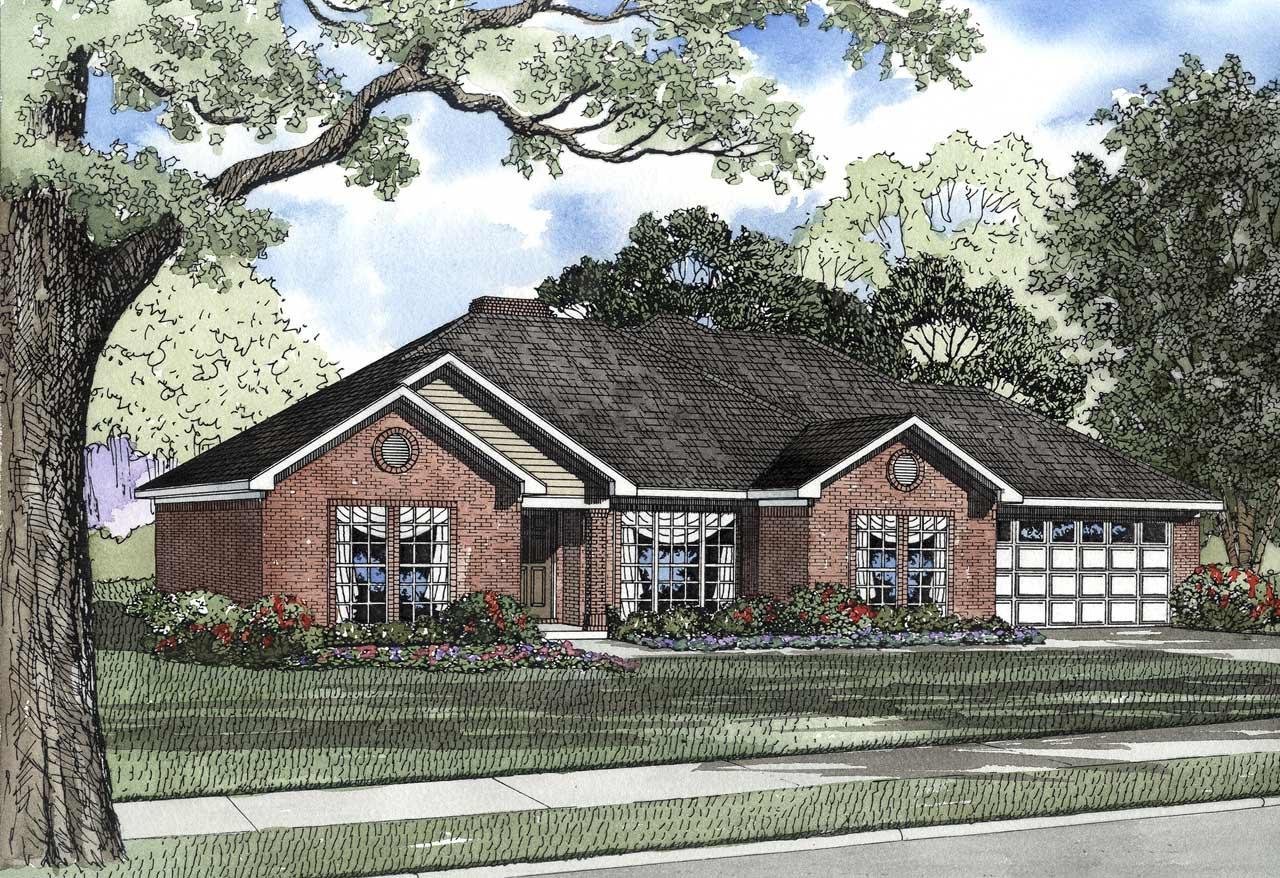 Traditional Style Home Design Plan: 12-141