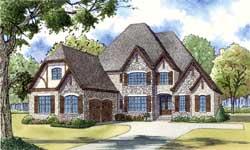 European Style House Plans Plan: 12-1412