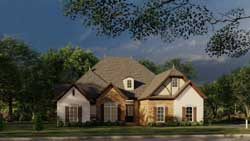 English-Country Style Floor Plans Plan: 12-1418