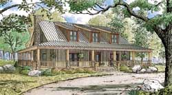 Country Style Floor Plans Plan: 12-1419