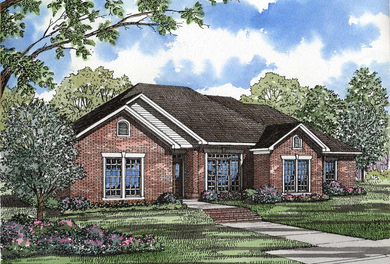 Traditional Style Home Design Plan: 12-142