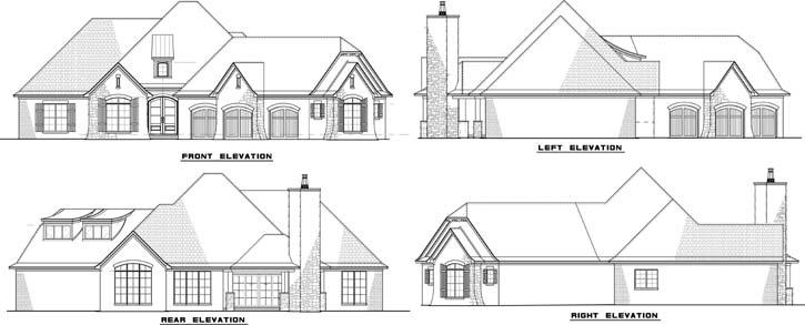 Rear Elevation Plan: 12-1420