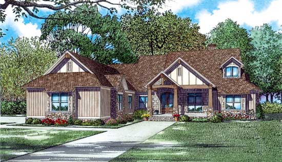 Country Style House Plans Plan: 12-1423
